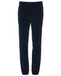 Темно-синие вельветовые брюки чинос