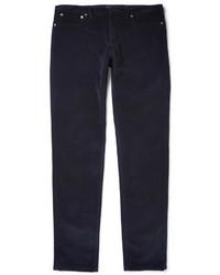 Мужские темно-синие вельветовые джинсы от A.P.C.