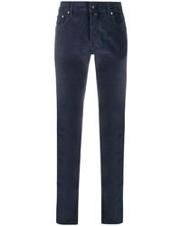 Мужские темно-синие вельветовые джинсы от Jacob Cohen