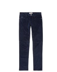 Мужские темно-синие вельветовые джинсы от Loro Piana