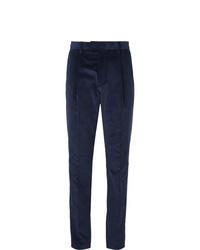 Мужские темно-синие вельветовые классические брюки от Caruso