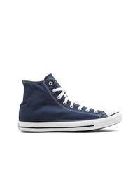 Мужские темно-синие высокие кеды из плотной ткани от Converse