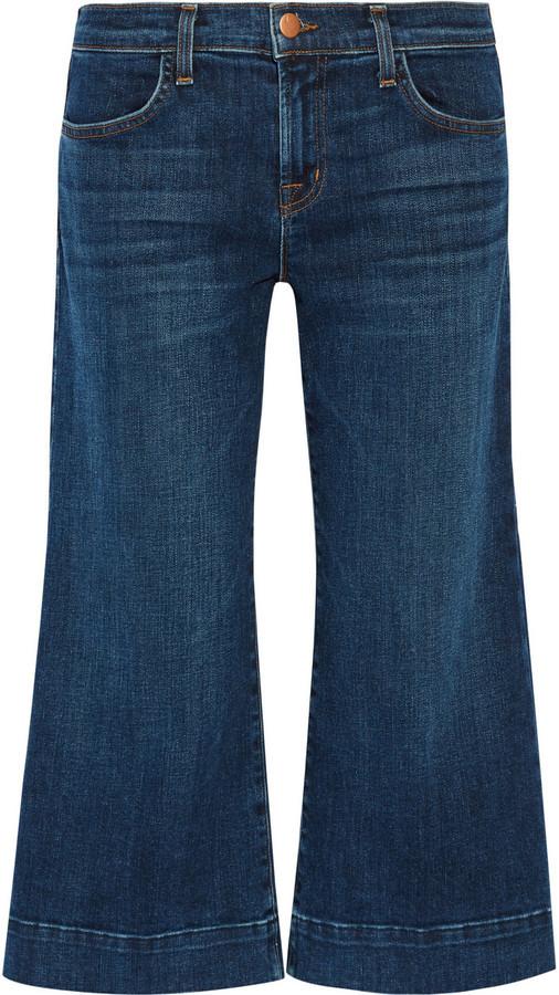 fdcee822 Темно-синие джинсовые брюки-кюлоты от J Brand, 15 777 руб. | NET-A ...