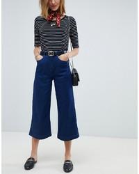 Темно-синие джинсовые брюки-кюлоты от Maison Scotch