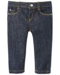 Темно-синие джинсовые брюки