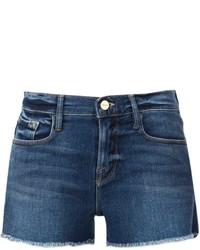 Темно-синие джинсовые шорты