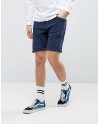 Мужские темно-синие джинсовые шорты от Asos