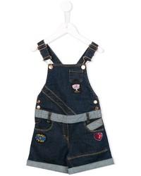Детские темно-синие джинсовые шорты для девочке от Little Marc Jacobs