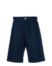 Мужские темно-синие джинсовые шорты от Raf Simons