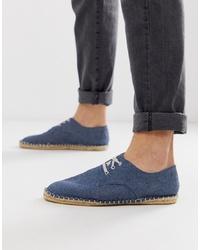 Мужские темно-синие джинсовые эспадрильи от ASOS DESIGN