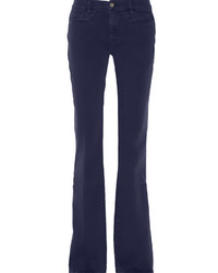 Темно-синие джинсы-клеш