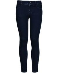 Темно-синие джинсы скинни