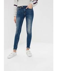 Темно-синие джинсы скинни от Colin's