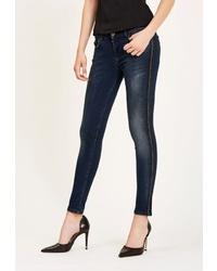 Темно-синие джинсы скинни от DSHE