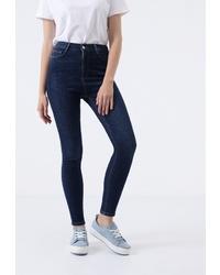 Темно-синие джинсы скинни от Lime