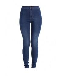 Женские темно-синие джинсы скинни от Topshop