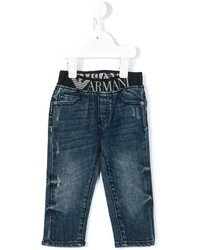 Детские темно-синие джинсы для мальчиков от Armani Junior
