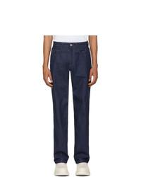 Мужские темно-синие джинсы от Carne Bollente