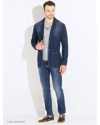 Мужские темно-синие джинсы от Dasmann