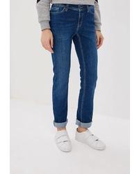Женские темно-синие джинсы от F5