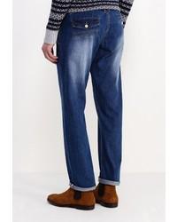 Мужские темно-синие джинсы от Justing