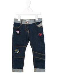 Детские темно-синие джинсы для девочке от Little Marc Jacobs