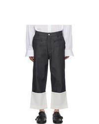 Мужские темно-синие джинсы от Loewe