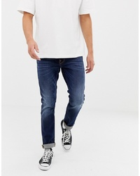 Мужские темно-синие джинсы от Nudie Jeans