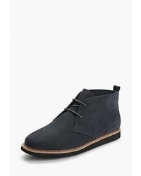 Женские темно-синие замшевые ботинки дезерты от Pierre Cardin