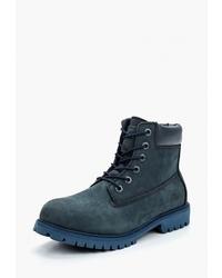 Женские темно-синие замшевые ботинки на шнуровке от Patrol