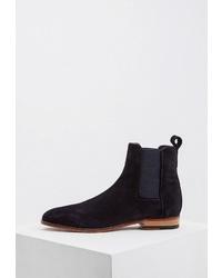 Мужские темно-синие замшевые ботинки челси от Hugo Hugo Boss