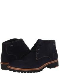 Темно-синие замшевые ботинки