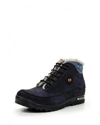 Мужские темно-синие замшевые ботинки от Darkwood