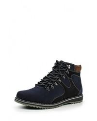 Мужские темно-синие замшевые ботинки от Instreet