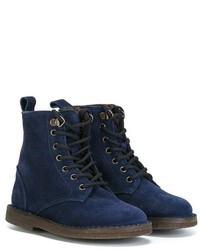 Детские темно-синие замшевые ботинки для мальчику от Pépé