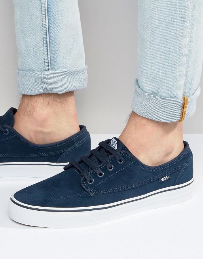 Мужские темно-синие замшевые кеды от Vans   Где купить и с чем носить 3462baeaded
