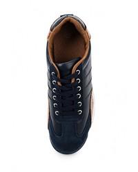 Мужские темно-синие замшевые кроссовки от Mapleaf