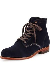 Темно-синие замшевые повседневные ботинки