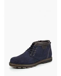 Мужские темно-синие замшевые повседневные ботинки от Alessio Nesca