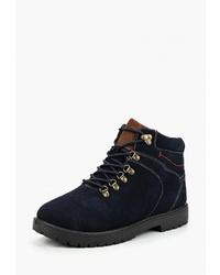 Мужские темно-синие замшевые рабочие ботинки от Alessio Nesca