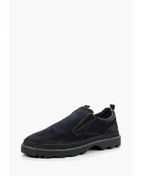 Мужские темно-синие замшевые слипоны от Dino Ricci Trend