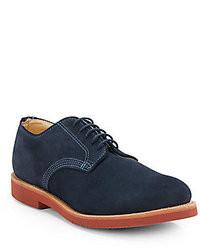 Темно-синие замшевые туфли дерби