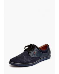 Темно-синие замшевые туфли дерби от Badalli
