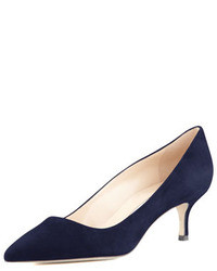 Темно-синие замшевые туфли
