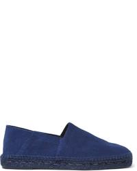 Мужские темно-синие замшевые эспадрильи от Tom Ford