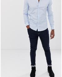 Мужские темно-синие зауженные джинсы от ASOS DESIGN