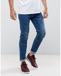 Мужские темно-синие зауженные джинсы от Asos