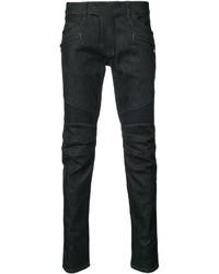 Мужские темно-синие зауженные джинсы от Balmain