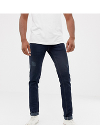 Мужские темно-синие зауженные джинсы от BLEND