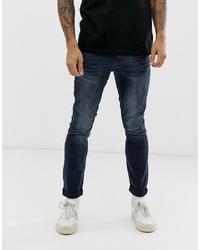 Мужские темно-синие зауженные джинсы от Burton Menswear